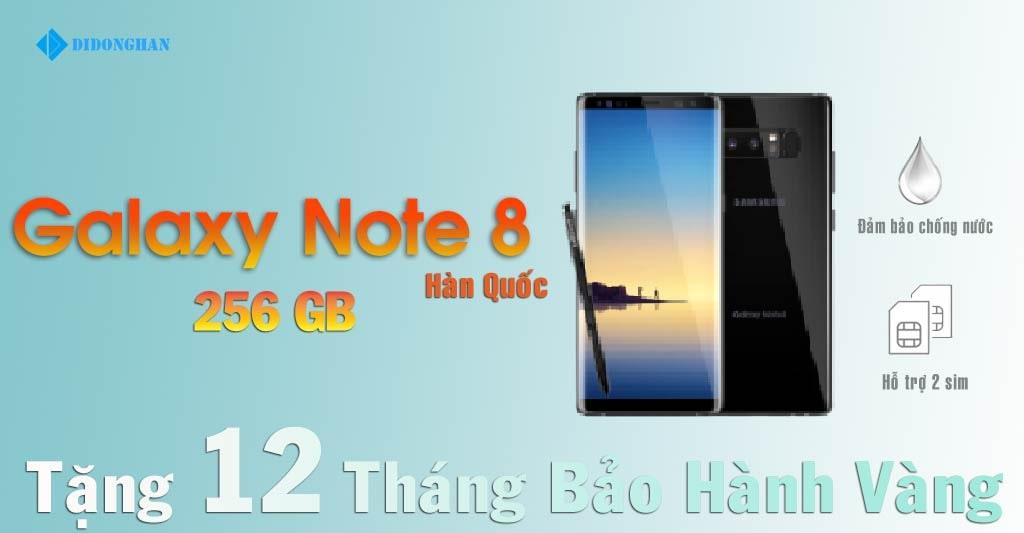 Galaxy Note 8 Xách Tay Hàn 256G Cũ 99%