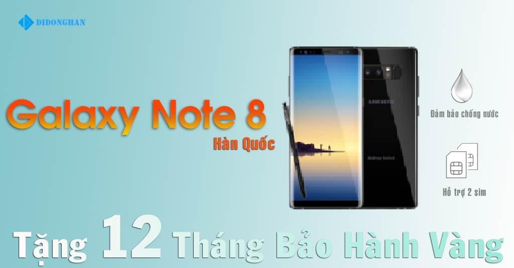 Galaxy note 8 Xách Tay Hàn Quốc Cũ