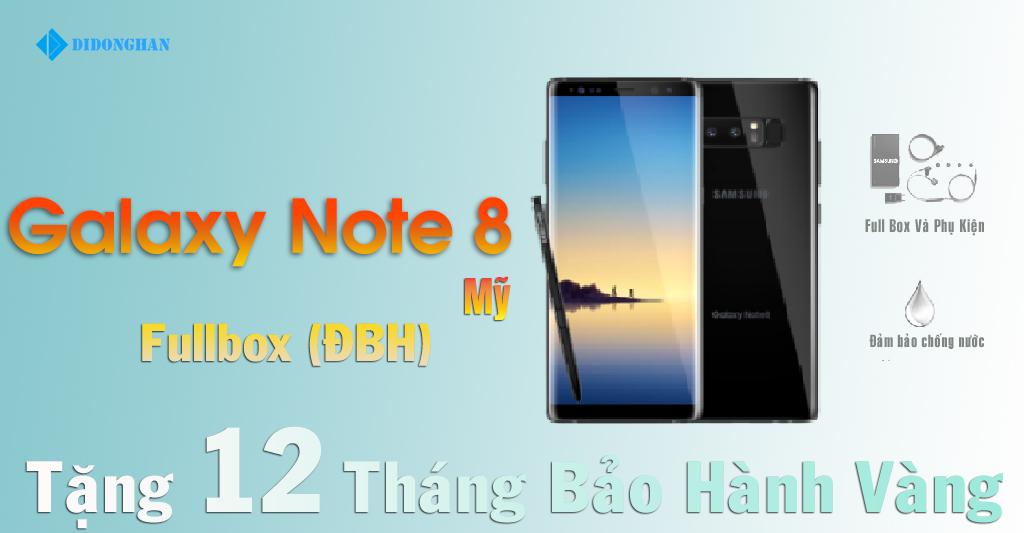 Galaxy Note 8  Xách Tay Mỹ Fullbox ( ĐBH )
