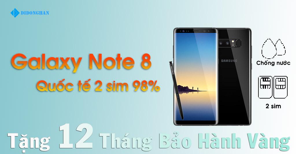 Galaxy Note 8 Quốc Tế 2 Sim Cũ 98%