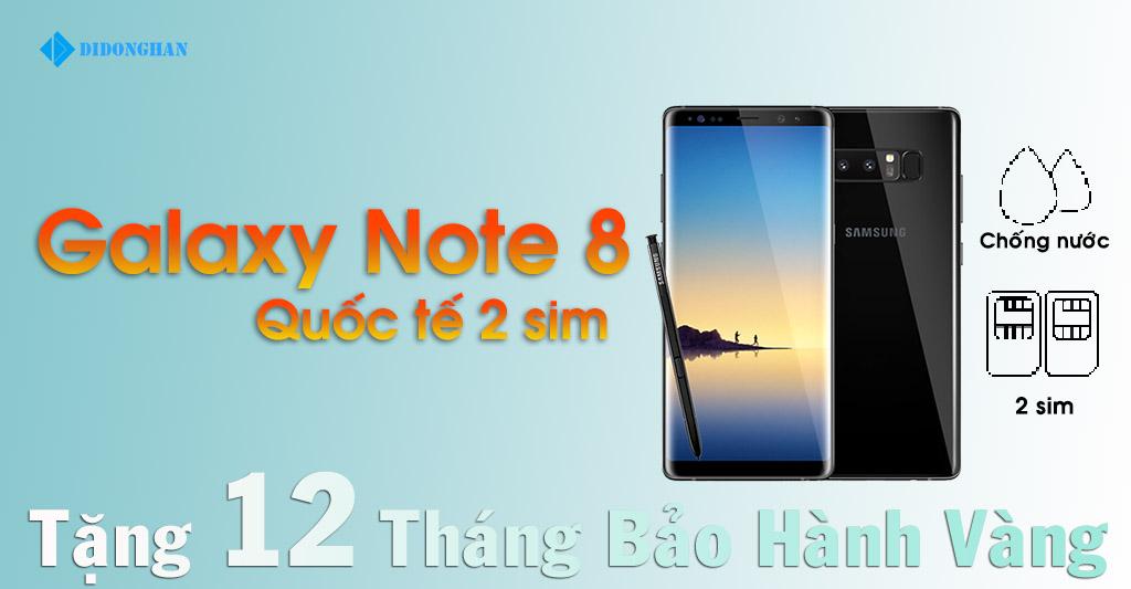 Galaxy Note 8 Quốc Tế 2 Sim Cũ 99%